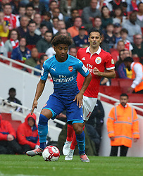 July 29, 2017 - London, United Kingdom - Arsenal's Reiss Nelson.during Emirates Cup match between RB Arsenal against Benfica  at Emirates Stadium on 29 July 2017  (Credit Image: © Kieran Galvin/NurPhoto via ZUMA Press)