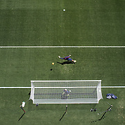 Nick Rimando, USA, warming up before the US Men's National Team Vs Turkey friendly match at Red Bull Arena.  The game was part of the USA teams three-game send-off series in preparation for the 2014 FIFA World Cup in Brazil. Red Bull Arena, Harrison, New Jersey. USA. 1st June 2014. Photo Tim Clayton
