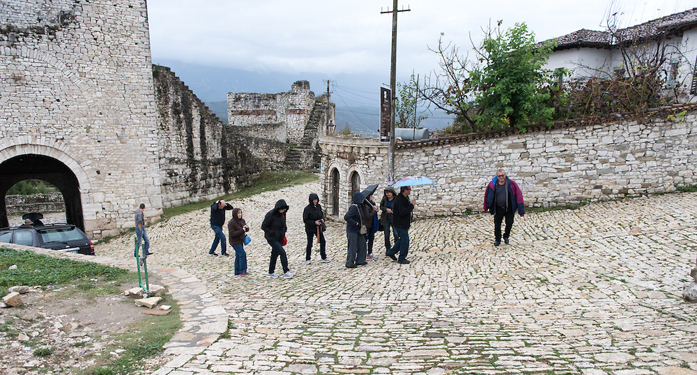 At the catle in Berat