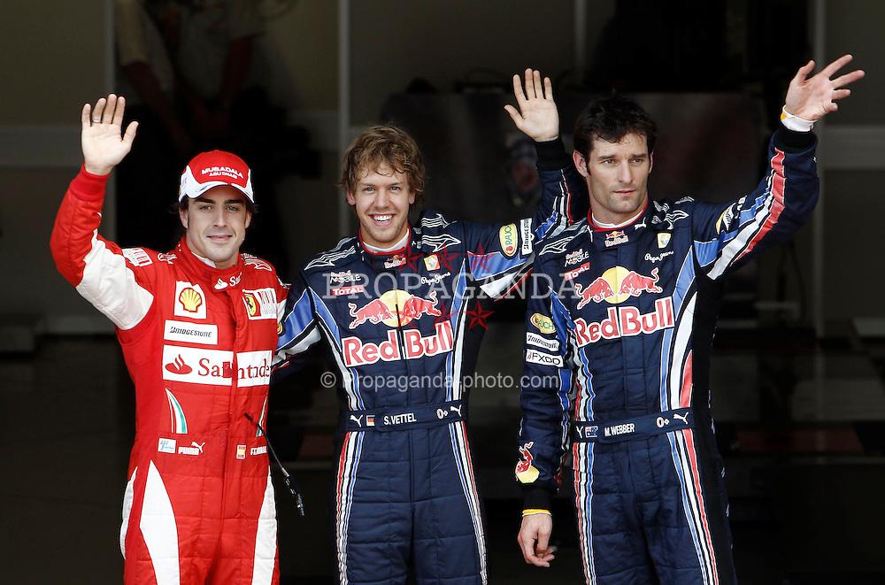Motorsports / Formula 1: World Championship 2010, GP of Great Britain, 08 Fernando Alonso (ESP, Scuderia Ferrari Marlboro), 05 Sebastian Vettel (GER, Red Bull Racing), 06 Mark Webber (AUS, Red Bull Racing),
