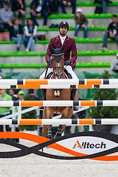 Shaikh Ali bin Khali Al Thani, (QAT), Eurocommerce California - Team & Individual Competition Jumping Speed - Alltech FEI World Equestrian Games™ 2014 - Normandy, France.<br /> © Hippo Foto Team - Leanjo De Koster<br /> 02-09-14