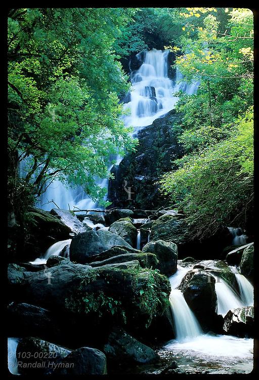 Torc Waterfall in Killarney National Park, Ireland.