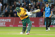 Samit Patel of Nottinghamshire Outlaws hits out during the Vitality T20 Blast North Group match between Nottinghamshire County Cricket Club and Worcestershire County Cricket Club at Trent Bridge, West Bridgford, United Kingdon on 18 July 2019.