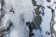 Barton Glasser / Daily Press.at the Ouray Ice Festival in Ouray Saturday.