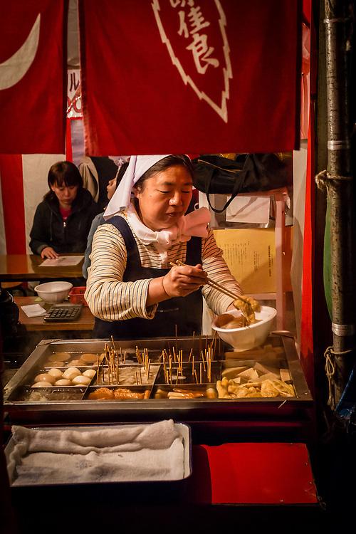 One of the many food stalls in the Hirosaki Hanami Matsuri