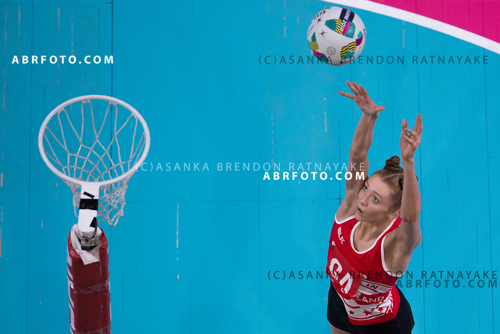 Helen Housby during Australia Vs Jamaica Fast5 Netball.