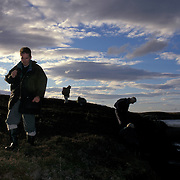 Rob Strachen and others Surveying for mink North Uist Scotland