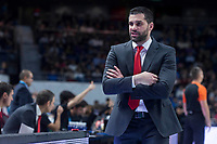 Crvena Zvezda coach Dusan Alimpijevic during Turkish Airlines Euroleague match between Real Madrid and Crvena Zvezda at Wizink Center in Madrid, Spain. December 01, 2017. (ALTERPHOTOS/Borja B.Hojas)