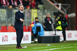 November 15, 2018 - Gdansk, Poland - Coach Jerzy Brzeczek of Poland reacts during International Friendly match between Poland and Czech Republic on November 15, 2018 in Gdansk, Poland. (Photo by Foto Olimpik/NurPhoto) (Credit Image: © Foto Olimpik/NurPhoto via ZUMA Press)