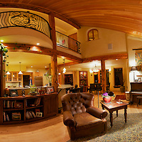 This is a panoramic stitch from 60+ images of the inside of a home.  Created using PTGui.