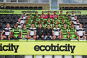 Forest Green Rovers squad photo 2017/18 with club sponsor during the Forest Green Rovers Photocall at the New Lawn, Forest Green, United Kingdom on 31 July 2017. Photo by Shane Healey.
