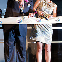 MACAU, CHINA - JUNE 01:  Businessman James Packer and wife Erica Baxter attend the ribbon cutting ceremony during the opening of Packer and Lawrence Ho's 'City of Dreams' casino on June 1, 2009 in Cotai, Macau. The new 420,000 square foot casino, built on marshland 9km from Macao's traditional casino district but over the road from the world's largest casino 'Sands Venetian Macao', hopes to lure customers to the new casino area. 'City of Dreams' will offer over 500 gambling tables alongside its 3 hotels, a shopping mall and digital fish which swim in an electronic aquarium know as 'The Bubble'.  Photo by Victor Fraile / studioEAST