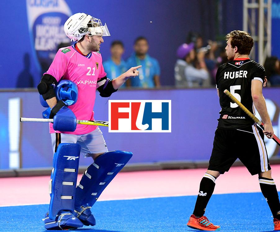 Odisha Men's Hockey World League Final Bhubaneswar 2017<br /> Match id:21<br /> India v Germany<br /> Foto: Harmanpreet Singh (Ind) scored 2-1<br /> keeper Tobias Walter (Ger) <br /> COPYRIGHT WORLDSPORTPICS FRANK UIJLENBROEK