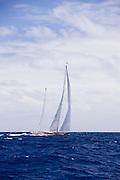 Rebecca sailing in the 2010 Antigua Classic Yacht Regatta, Cannon Race, day 3.