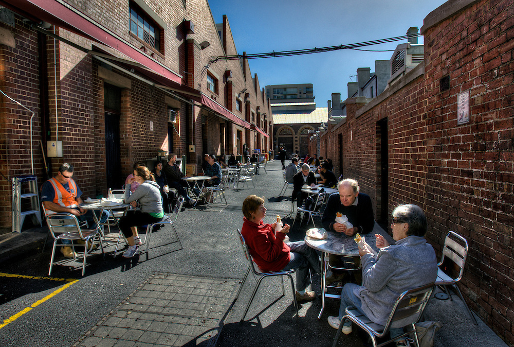 Sunny Melbourne. Queen Victoria Market, laneway off Therry St. Pic By Craig Sillitoe CSZ/The Sunday Age.10/05/2012 melbourne photographers, commercial photographers, industrial photographers, corporate photographer, architectural photographers, This photograph can be used for non commercial uses with attribution. Credit: Craig Sillitoe Photography / http://www.csillitoe.com<br />