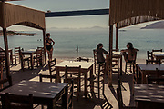 Greece, Koufonissi, restaurant by the sea