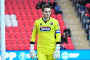 James McKeown (1) of Grimsby Town during the EFL Sky Bet League 2 match between Exeter City and Grimsby Town FC at St James' Park, Exeter, England on 29 December 2018.