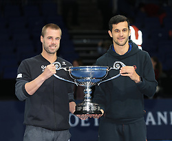 November 12, 2018 - Angleterre - Nitto ATP Finals - Marach Pavic - Croatie - double trophee numero 1 world (Credit Image: © Panoramic via ZUMA Press)