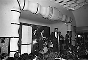 Royal Showband at the Crystal Ballroom, in the suits which were made specially for their forthcoming American tour by Premier Tailors.  The suits are part of the entire wardrobe which the boys will wear on the trip..10.06.1964
