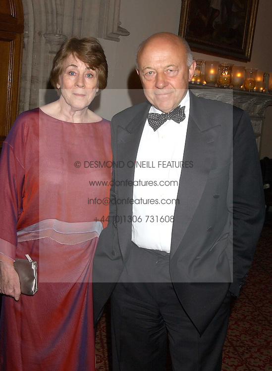SIR JOHN &amp; LADY TUSA at a dinner to announce the 2005 Man Booker Prize held at The Guilhall, City of London on 10th October 2005.<br />