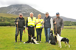 Pictured at the Sheepdog trials at the Murrisk Pattern Day 3rd place Michael Hastings Louisburgh, Gerry Nugent, Breeda Hyland Murrisk Dev Assoc presenting to Bartley O'Malley 1st Place and 2nd Place Michael Hynes Belclare Co Galway.<br /> Pic Conor McKeown