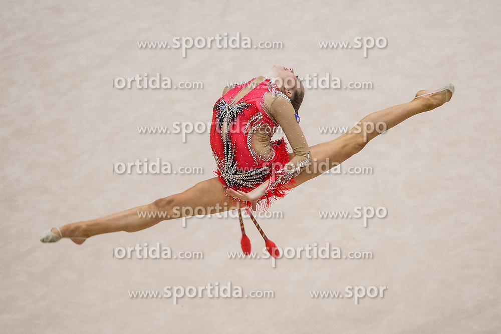 Jeram Aja of Slovenia competes during 29th MTM - International tournament in rhythmic gymnastics Ljubljana, on March 12, 2016 in gymnastics center Ljubljana, Ljubljana, Slovenia.  Photo by Grega Valancic / Sportida