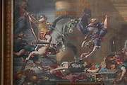 DELACROIX, Eugene, 1798-1863, HÈliodore chassÈ du temple (Expulsion of Heliodorus from the Temple), 1861, fresco, detail, in Eglise Saint-Sulpice (St Sulpitius' Church), c.1646-1745, late Baroque church on the Left Bank, Paris, France. Picture by Manuel Cohen