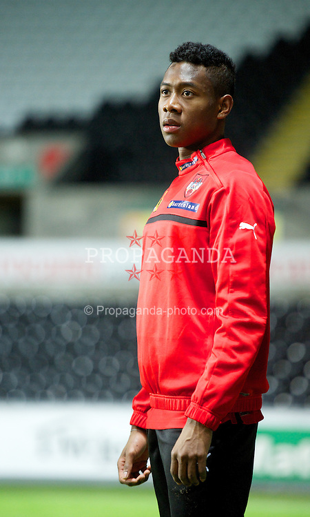 SWANSEA, WALES - Tuesday, February 5, 2013: Austria's David Alaba during a training session at the Liberty Stadium ahead of the International Friendly against Wales. (Pic by David Rawcliffe/Propaganda)