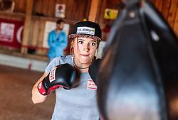 19.06.2017, Powerhof, Adnet, AUT, OeSV, Boxtraining Damen Slalom Team, im Bild Katharina Huber (AUT) // during a Boxing Training Camp of the Austrian Ladies Slalom Team at the Powerhof in Adnet, Austria on 2017/06/19. EXPA Pictures © 2017, PhotoCredit: EXPA/ JFK