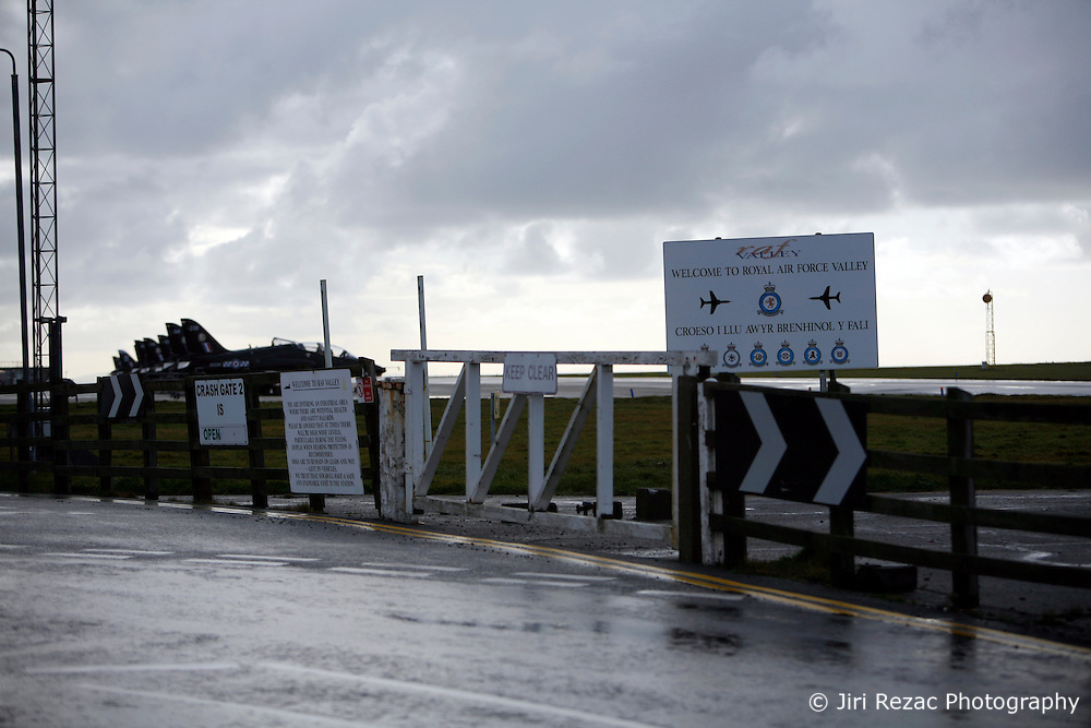 UNITED KINGDOM WALES ANGLESEY 18NOV10 - Entrance to the RAF Valley airbase in Anglesey, north Wales where Prince William serves as an RAF Search and Rescue helicopter pilot...jre/Photo by Jiri Rezac..© Jiri Rezac 2010