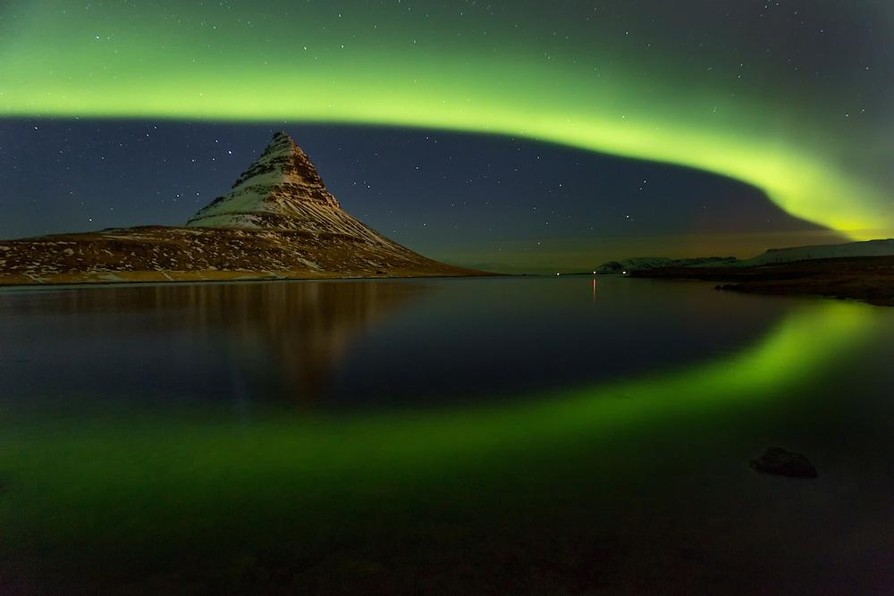 Northern Lights over Grundarfjörður; Iceland