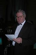 Owen Williams. The Black and White Winter Ball. Old Billingsgate. London. 8 February 2006. -DO NOT ARCHIVE-© Copyright Photograph by Dafydd Jones 66 Stockwell Park Rd. London SW9 0DA Tel 020 7733 0108 www.dafjones.com