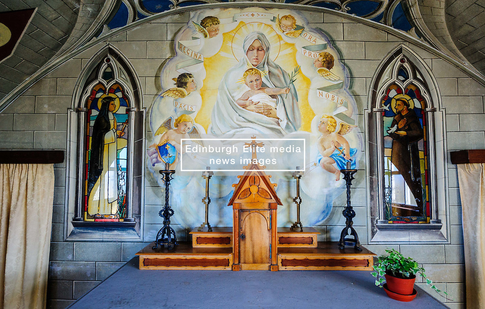 The Italian Chapel, Lamb Holm, Orkney - built and decorated by italian prisoners of war during the second world war in 1942.  It is the main tourist attraction on the island of Lamb Holm.<br /> <br /> (c) Andrew Wilson | Edinburgh Elite media