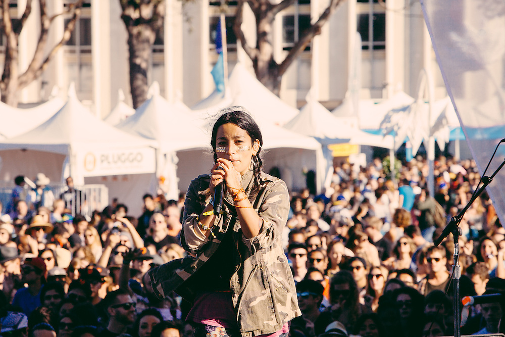Ana Tijoux perfoms at Treasure Island Music Festival - 10/18/2014