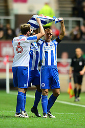 Steve Sidwell of Brighton & Hove Albion holds celebrates his goal with team mates - Mandatory by-line: Dougie Allward/JMP - 05/11/2016 - FOOTBALL - Ashton Gate - Bristol, England - Bristol City v Brighton and Hove Albion - Sky Bet Championship