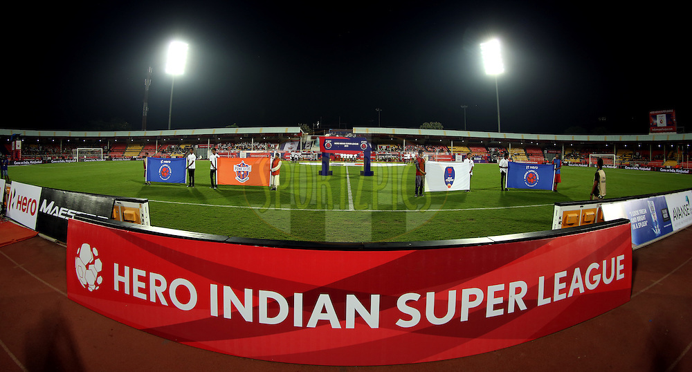 General view of the ground during match 33 of the Indian Super League (ISL) season 2  between FC Pune City and FC Goa held at the Shree Shiv Chhatrapati Sports Complex Stadium, Pune, India on the 8th November 2015.<br /> <br /> Photo by Sandeep Shetty / ISL/ SPORTZPICS