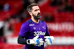 Scott Carson of Derby County - Mandatory by-line: Robbie Stephenson/JMP - 25/09/2018 - FOOTBALL - Old Trafford - Manchester, England - Manchester United v Derby County - Carabao Cup