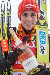 18.01.2014, Casino Arena, Seefeld, AUT, FIS Weltcup Nordische Kombination, Seefeld Triple, Podium, im Bild Eric Frenzel (GER) // Eric Frenzel (GER)during Winner Award Ceremony at FIS Nordic Combined World Cup Triple at the Casino Arena in Seefeld, Austria on 2014/01/18. EXPA Pictures © 2014, PhotoCredit: EXPA/ JFK