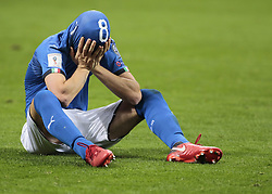 November 13, 2017 - Milan, Italy - Alessandro Florenzi during the playoff match for qualifying for the Football World Cup 2018  between Italia v Svezia, in Milan, on November 13, 2017. (Credit Image: © Loris Roselli/NurPhoto via ZUMA Press)