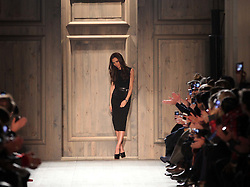 Victoria Beckham takes a bow at the end of her show at New York Fashion Week AW 2012, Sunday , February 12th 2012.  Photo by: Stephen Lock / i-Images
