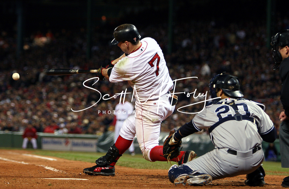 Trot Nixon connects for a base hit.  2004 Boston Red Sox, make a run at history getting through a tough fight with the New York Yankees and then eventually sweeping the St. Louis Cardinals for the World Series title.