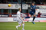 14th September 2019; Dens Park, Dundee, Scotland; Scottish Championship, Dundee Football Club versus Alloa Athletic; Declan McDaid of Dundee heads towards the goal
