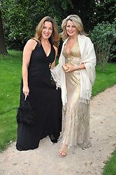 Left to right, BARBARA BROCCOLI and CAROLE ASHBY at the Raisa Gorbachev Foundation fourth annual fundraising gala dinner held at Stud House, Hampton Court, Surrey on 6th June 2009.
