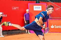 October 4, 2018 - Campinas, Brazil - CAMPINAS, SP - 04.10.2018: ATP CHALLENGER CAMPINAS - Felipe Meligeni Rodrigues Alves in a game that will take place at the ATP Challenger Round of 16 in Campinas, in the interior of the city of São Paulo, this Thursday (4) (Credit Image: © Fabio Leoni/Fotoarena via ZUMA Press)