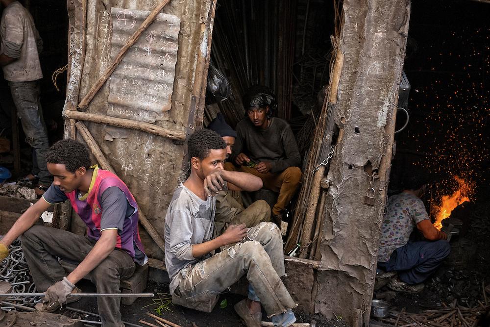 Street Scene in Mercato, Addis Ababa
