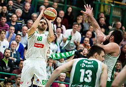 Boban Tomic of Petrol Olimpija during basketball match between KK Krka and KK Petrol Olimpija in 22nd Round of ABA League 2018/19, on March 17, 2019, in Arena Leon Stukelj, Novo mesto, Slovenia. Photo by Vid Ponikvar / Sportida
