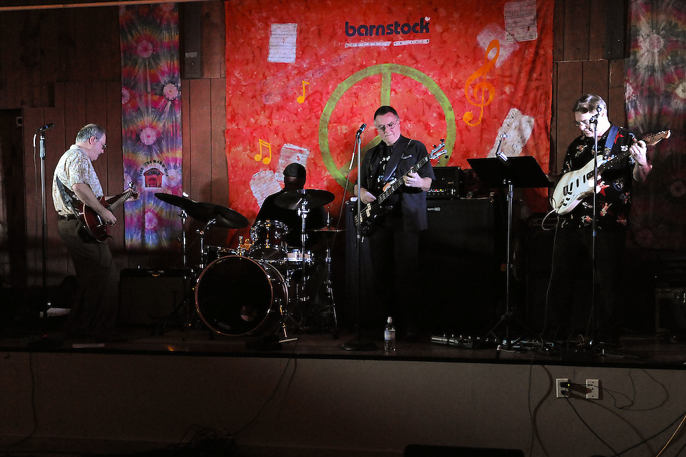 NAPERVILLE, IL- NOVEMBER 20:  Barnfest 2010 was held at The Barn, a famous youth recreation center located in Naperville, Illinois, to celebrate its 45th anniversary on November 20, 2010.  Invited musicians from the bands that played there from 1965-1973 rejoined for a night of music and memories. Pictured here is Blue Wind. (Photo by Ron Vesely)