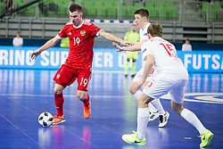 Ivan Chishkala of Russia during futsal match between Russia and Poland at Day 1 of UEFA Futsal EURO 2018, on January 30, 2018 in Arena Stozice, Ljubljana, Slovenia. Photo by Urban Urbanc / Sportida