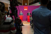 16 JUN 2012, BERLIN/GERMANY:<br /> Christian Ude (L), SPD, Oberbuergermeister Muenchen, und Sigmar Gabriel (R), SPD Parteivorsitzender, waehrend einer Pressekonferenz zum 1. SPD Parteikonvent, Atrium, Willy-Brandt-Haus<br /> IMAGE: 20120616-01-167<br /> KEYWORDS: SPD-Parteikonvent, Konvent