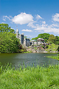 Belvedere Castle and Turtle Pond, Central Park, New York City.
